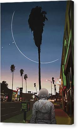 Map Of The Stars Canvas Print by Scott Listfield
