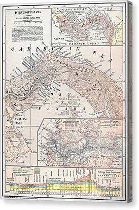Map: Panama, 1907 Canvas Print by Granger