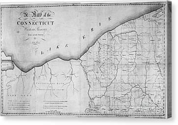 Map: Western Reserve Canvas Print by Granger