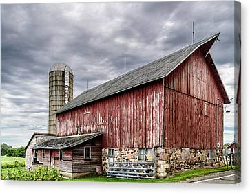 Maple Grove Farm Canvas Print by Randy Scherkenbach