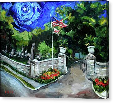 Ghost Story Canvas Print - Maple Hill Cemetery by Carole Foret