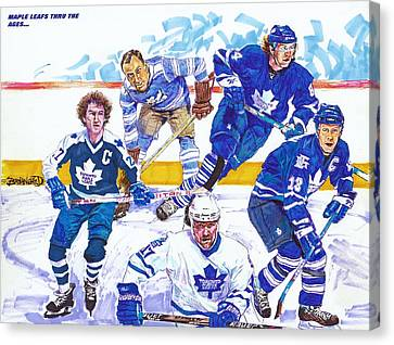 Maple Leafs Thru The Ages Canvas Print by Brian Child