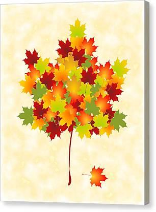 Maple Leaves Canvas Print by Anastasiya Malakhova