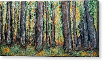 Maple Trees Canvas Print by Alison  Galvan