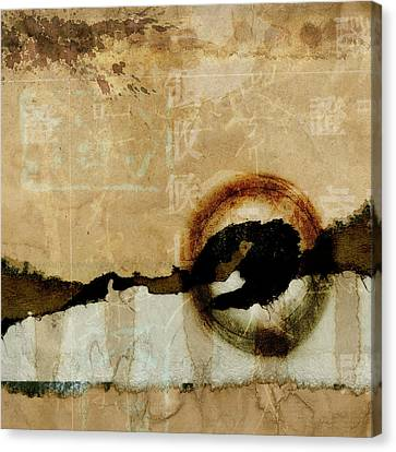 Warm Canvas Print - Mapping The Mountains Mixed Media by Carol Leigh
