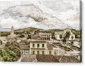Mapping Trinidad Canvas Print