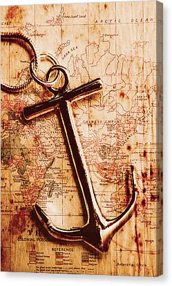 Maps And Anchors Fine Art Canvas Print by Jorgo Photography - Wall Art Gallery