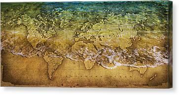 Maps Canvas Print by Martin Newman