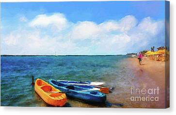 Mar Beach Canvas Print by Shirley Stalter