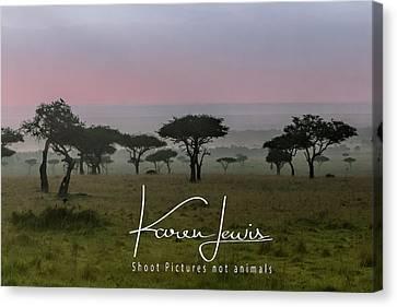 Canvas Print featuring the photograph Mara Dawn by Karen Lewis
