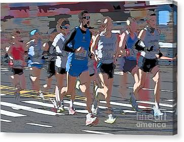 Marathon Runners I Canvas Print by Clarence Holmes