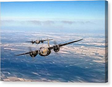Vintage Aircraft Canvas Print - Marauder Twoship by Peter Chilelli