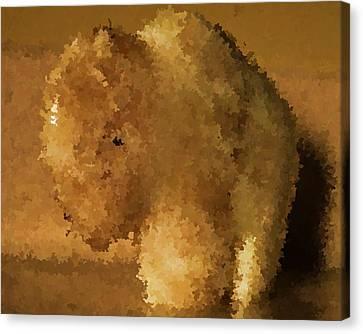 Marble Bison Canvas Print