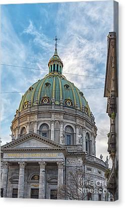 Canvas Print featuring the photograph Marble Church In Copenhagen by Antony McAulay