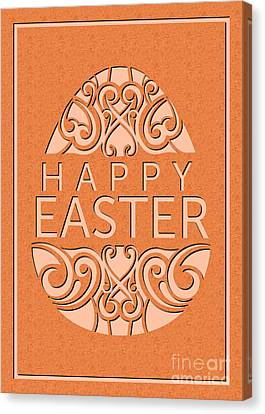 Canvas Print featuring the digital art Marble Deco Easter Egg by JH Designs