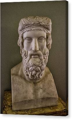 Statue Portrait Canvas Print - Marble Head by Martin Newman