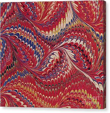 Marbled Endpaper Canvas Print by English School