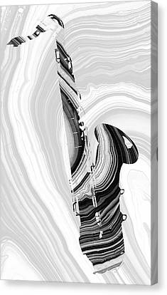 Marbled Music Art - Saxophone - Sharon Cummings Canvas Print by Sharon Cummings