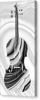 Marbled Music Art - Violin - Sharon Cummings Canvas Print