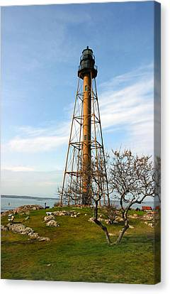 Marblehead Light Canvas Print by Michelle Wiarda