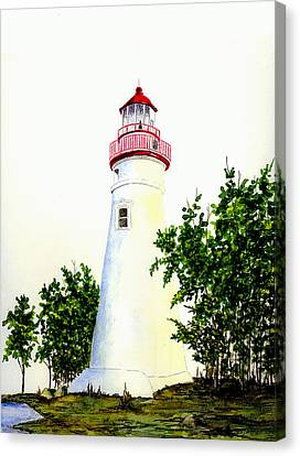Marblehead Lighthouse Canvas Print by Michael Vigliotti