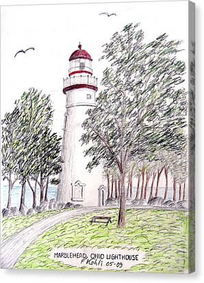 Marblehead Ohio Lighthouse  Canvas Print by Frederic Kohli