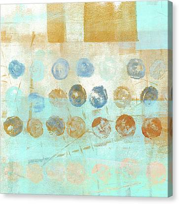 Canvas Print featuring the mixed media Marbles Found Number 1 by Carol Leigh