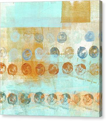 Canvas Print featuring the mixed media Marbles Found Number 2 by Carol Leigh