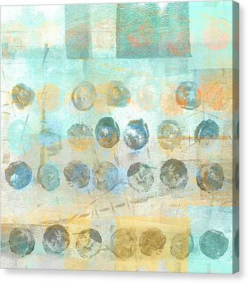 Canvas Print featuring the mixed media Marbles Found Number 4 by Carol Leigh