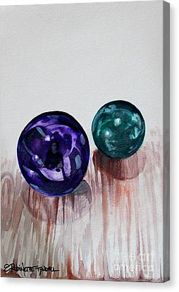 Canvas Print featuring the painting Marbles Of My Reflection by Elizabeth Robinette Tyndall