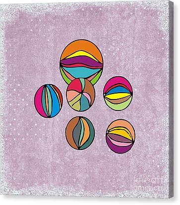 Marbles Canvas Print by Priscilla Wolfe