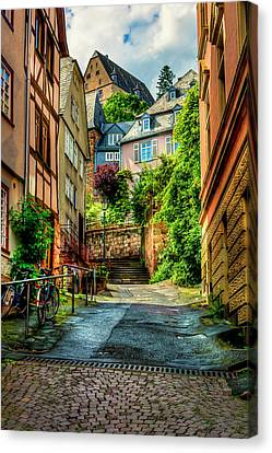Canvas Print featuring the photograph Marburg Alley by David Morefield