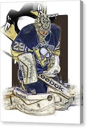 Marc Andre Fleury Pittsburgh Penguins Oil Art Canvas Print