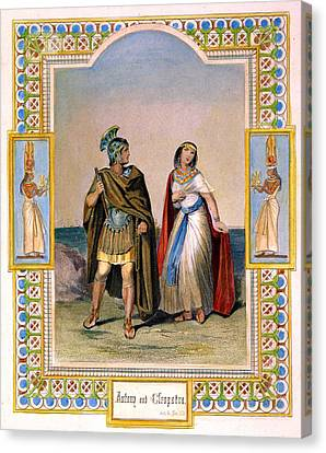 Marc Antony And Cleopatra Canvas Print by Granger