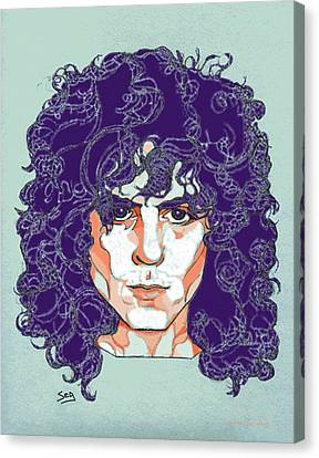 Marc Bolan Canvas Print by Suzanne Gee