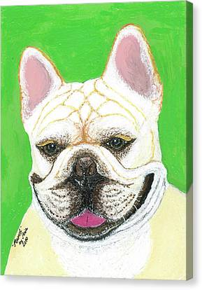 Canvas Print featuring the painting Marcel French Bulldog by Ania M Milo