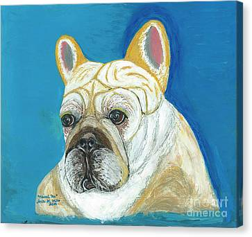 Canvas Print featuring the painting Marcel II French Bulldog by Ania M Milo