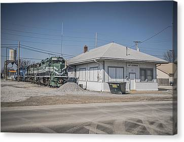 March 11. 2015 - A Little Evansville And Western Action Canvas Print by Jim Pearson