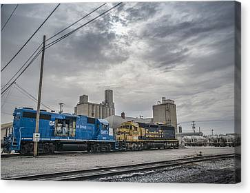 March 18. 2015 - Evansville Western Railway Canvas Print by Jim Pearson