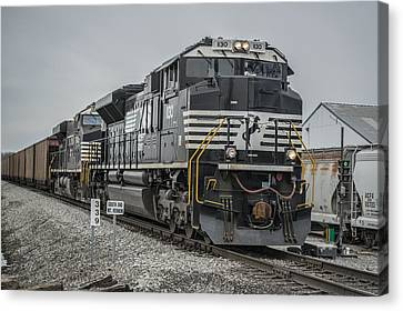 March 18. 2015 - Norfolk Southern Loaded Coal Train Ndn-1 Canvas Print by Jim Pearson