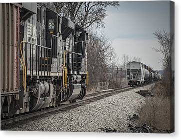 March 18. 2015 - Norfolk Southern's Loaded Coal Train Ndn-1 Canvas Print by Jim Pearson
