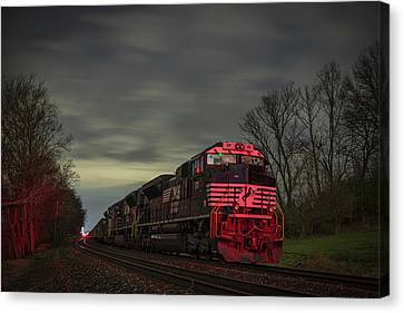 Southern Indiana Canvas Print - March 25 2017 Ns 871 At Lyle Siding Princeton In by Jim Pearson