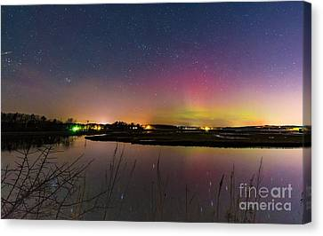 March 6 Aurora Over Scarborough Marsh  Canvas Print
