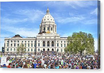 March For Science  Minnesota 2017 Canvas Print by Jim Hughes