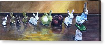 March Hare Canvas Print - March Hares by Jane Loveall
