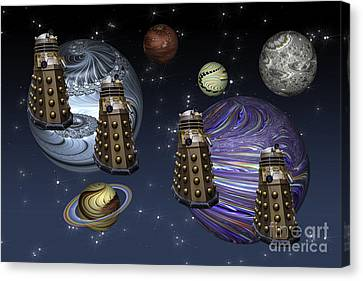 March Of The Daleks Canvas Print by Steve Purnell