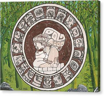March  The Mayan Calendar Canvas Print