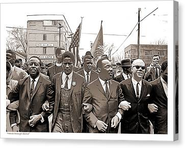 March Canvas Print - March Through Selma by Greg Joens