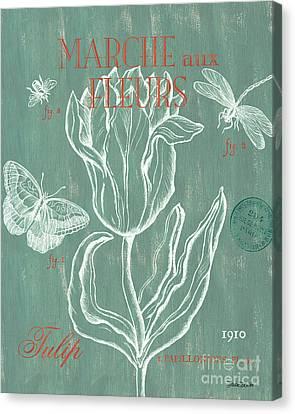 Flora Canvas Print - Marche Aux Fleurs by Debbie DeWitt