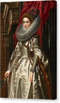 Portrait Of Woman Canvas Print - Marchesa Brigida Spinola Doria by Peter Paul Rubens